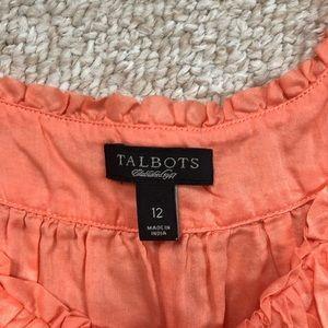 Talbots Peach Sleeveless top